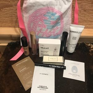 Sephora Bag + 10 Samples MAC Kat Von Dee Marc Jaco